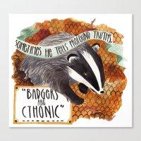 Badgers Canvas Print