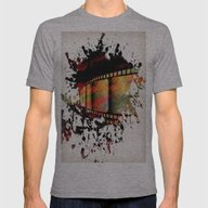 Film Art, Abstract Mens Fitted Tee Athletic Grey SMALL