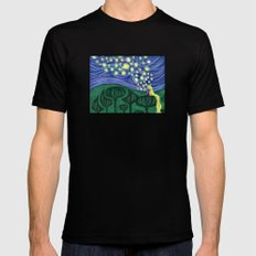 Impressionist Lanterns Black SMALL Mens Fitted Tee