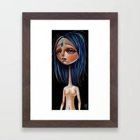 Miss Lapis Lazuli Study Framed Art Print