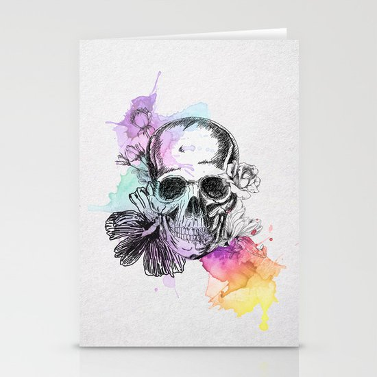 Color Skull Stationery Card