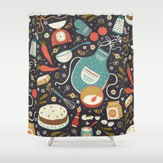 Carrot Cake Shower Curtain