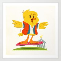 Hover Bird Art Print