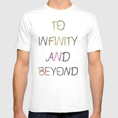 to infinity and beyond Mens Fitted Tee White SMALL
