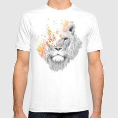 If I roar (The King Lion) Mens Fitted Tee White SMALL