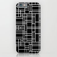 iPhone & iPod Case featuring Map Outline White on Black  by Project M