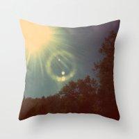 Sun Beam. Throw Pillow