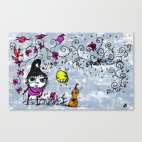 Night of the Squash Canvas Print