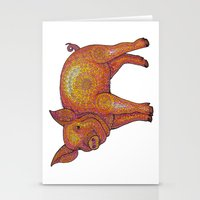 Patterned Piglet Stationery Cards