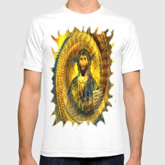 Jesus Vintage  SMALL Mens Fitted Tee White