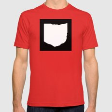O-H-I-O SMALL Mens Fitted Tee Red