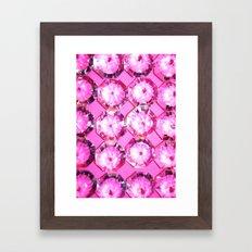 Diamonds // Pink Framed Art Print