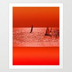Autumn Ocean Art Print