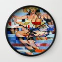 Glitch Pin-Up: Taylor & Tiffany Wall Clock