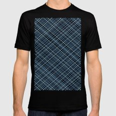 Weave 45 Blues Mens Fitted Tee Black SMALL