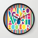 My Favorite Color Wall Clock