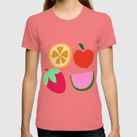 Fruit Salad Womens Fitted Tee Pomegranate SMALL