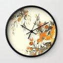 fox in foliage Wall Clock