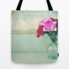Retro Roses Tote Bag
