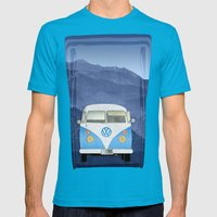 Volkswagen Bus Mens Fitted Tee Teal SMALL