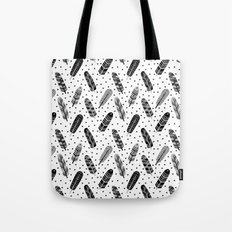 Feathers black and white triangle geometric modern trendy hipster boho southwest native style kids Tote Bag