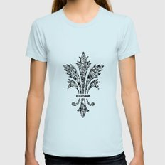 Blume Womens Fitted Tee Light Blue SMALL
