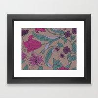 floral knit Framed Art Print