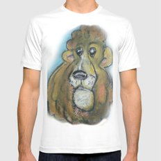 Lion White Mens Fitted Tee SMALL