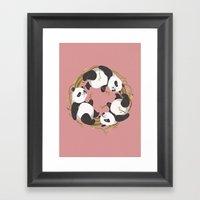 Panda Dreams Framed Art Print