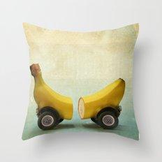 Banana Splitmobile Throw Pillow