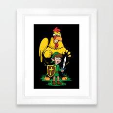 The Legend of Ernie (dark background) Framed Art Print