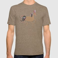 Horse Mens Fitted Tee Tri-Coffee SMALL