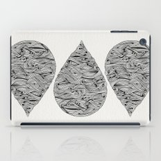 Water Drop – Black Ink iPad Case