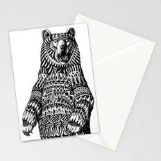 Ornate Grizzly Bear Stationery Cards