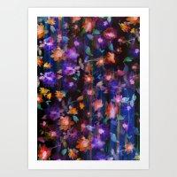 Floral Ombre Invert Art Print