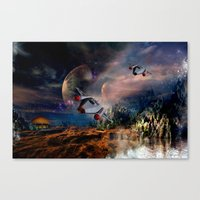 Planetary Encounter Canvas Print