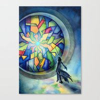 The Gate Of Many Panes Canvas Print