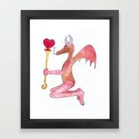 Demon Love Framed Art Print