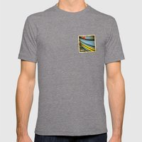 Grunge sticker of Aruba flag Mens Fitted Tee Tri-Grey SMALL