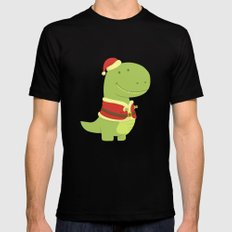 SanT-Rex Black Mens Fitted Tee SMALL