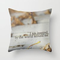 inspired by the world Throw Pillow