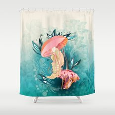 Jellyfish tangling Shower Curtain