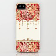 Royal Red Art Deco Doubl… iPhone (5, 5s) Slim Case