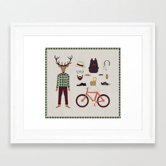 Deer Boy Framed Art Print