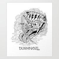 DUSHNOZLE DEADCAT Art Print