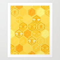 Dance of Bees Art Print