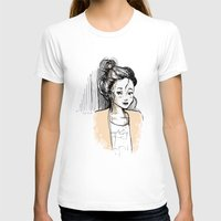 Frenchy Girl Womens Fitted Tee White SMALL