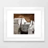 cat burglar Framed Art Print