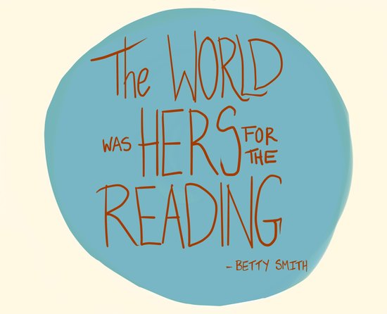 The World was Hers for the Reading Art Print