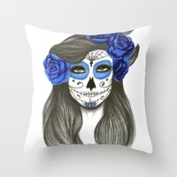 Sugar Skull Throw Pillow
